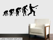 Evoluzione del Cricket Wall art Adesivi SALOTTO CAMERA DA LETTO Trasferimento Murale Decalcomania