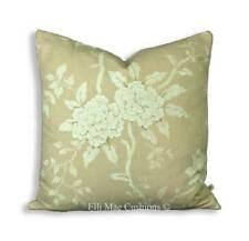 Luxury Designer Floral Cream Beige Cushion Pillow Throw Cover