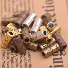 20Pcs Tibetan Silver Tube Charm Connector Bail Jewelry Findings E3152