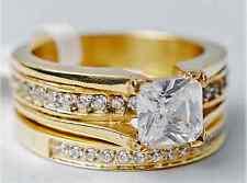 2.10Ct Princess Cut AAA Lab Diamond Rings Gold Engagement/Wedding Band Ring