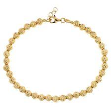 Bracciale oro Giallo 18 kt sfere da 5mm gioielli donna uomo regalo matrimonio