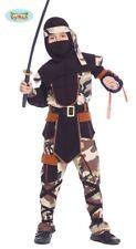 Ninja Kämpfer - Kostüm für Kinder Karneval Fasching Samurai Krieger Gr. 110 - 14