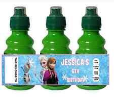Personalizados Disney Fruta Congelada disparar Botella Etiqueta Partido Bolsa Rellenos