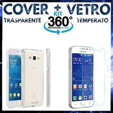 COVER + VETRO TEMPERATO SAMSUNG GALAXY GRAND PRIME SM-G530F Custodia + Pellicola