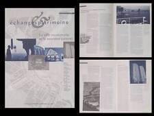REVUE ARCHITECTURE- ECHANGES ET PATRIMOINE - 1994 - VILLE RECONSTRUITE, TOURISME