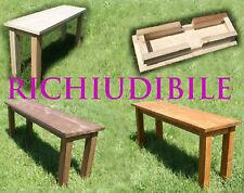 Panchetto panchina giardino richiudibile arredo esterno interno tavolino legno