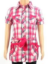 O'Neill Blusenkleid Sommerkleid Booma pink kariert Kragen Tasche NEU