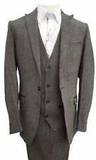 Marc Darcy 3 Pezzi Suit STYLE MASON Giacca Pantaloni Gilet-Grigio