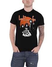 Led Zeppelin T Shirt Orange Circle Band Logo new Official Mens Black