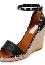 Valentino Rockstud Rolling Espadrille Wedge Sandal 35, 36 & 41 $895
