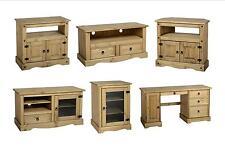 Seconique Corona Entertainment Furniture - Solid Pine TV Unit Cabinet HiFi Desk