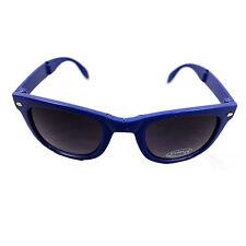 Occhiali da sole stile Pieghevole Blu Lente Classico Sport UV400 compatto da viaggio unisex UK