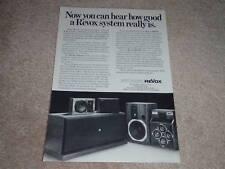 Revox Speaker Ad, 1981,BX350,BR530,Triton, Article,RARE