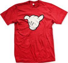 Gloved Hand Cartoon White Hang Loose Surfer Hawaii Cool Gnarly 360 Men's T-Shirt