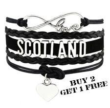 Scotland Unisex Leather Bracelet Jewellery Football Sport United Kingdom Britain