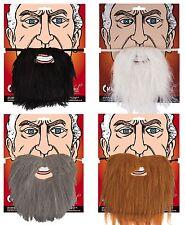 Mens Black Brown Grey Long Beard Moustache Tash Facial Hair Accessory Wizard