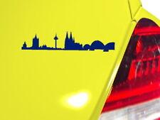 """Köln Skyline"" Autotattoo -Aufkleber freistehend + Anleitung (Art.sky033)"