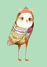 157482 Big Eyes Owls Wall Print Poster CA