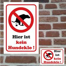 Kein Hundeklo Hundetoilette Schild Hinweis Verbot Hartschaumplatte wetterfest