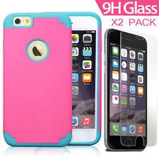 iPhone 6/ 6S Plus Slim Smart Heavy Duty Hybrid Case+Glass Films for Fashion Girl