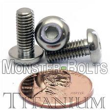 5mm / M5 x 0.8 - Titanium BUTTON HEAD Socket Caps Screws Ti ISO 7380 / DIN 9427
