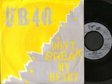 "UB40 don't break my heart  mek ya rok 7"" PS EX/EX german virgin 107 718-100"