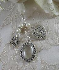 Ramo de foto memorial mariposa encanto hecho con perlas de swarovski