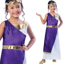 Kids Roman Girl Costume Fancy Dress Princess Ancient Rome 3-10 Years Amscan