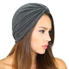 Kristin Perry Jersey Sweater Turban Hat Grey