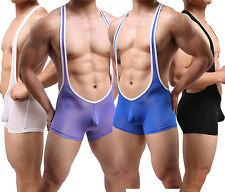 Men's Clothing Boxer Briefs Wrestling Singlet Leotard Smooth Bodysuit Jumpsuit
