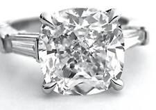 Baguette Diamond Engagement Ring H, Vs1 Gia Three Stone 1.30 ct. Cushion Cut w/