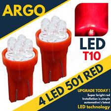 Bright Led Xenon power Side Light 501 194 W5w 158 168 T10 Super Red Bulbs 12v