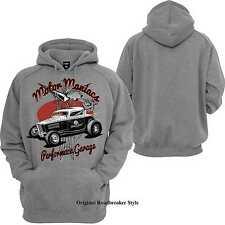 Kapuzenpullover/Hoody schwarz V8 Oldschool Hot Rod&`50 Stylemotiv Modell Motor M