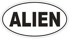 ALIEN Oval Bumper Sticker or Helmet Sticker D1956 Euro Oval