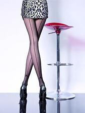 Collant fantaisie voile couture femme noir sexy-lingerie Fiore-Miriam