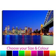 Australia Sydney Harbour Bridge Landscape Single Canvas Wall Art Picture Print 1