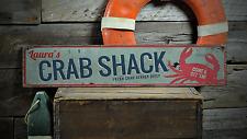 Custom Crab Shack Fresh Crab Served Rustic Handmade Vintage Wood Sign ENS1001200