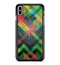 Diamantes Cuadrados Triángulos Colorido Abstracto COLLAGE 2d Funda de teléfono