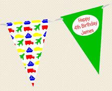 Personalizado Infantil/Niños Fiesta Cumpleaños transporte Temática Guirnalda -