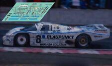 Calcas Porsche 962C Le Mans 1987 8 1:32 1:43 1:24 1:18 slot decals