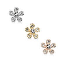 Dermal Anchor - Piercing Flower Inset Zirconia Micro Dermal Ball #636