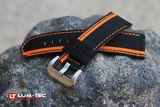 LUM-TEC Genuine OE 480 Racing Stripe black nylon and leather composite strap