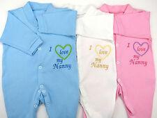 I Love My Nanny Nanna Nana Grandma Nan Baby Grow Vest Babies Clothes Funny Gift