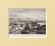 1883:VEDUTA GENERALE di GENOVA.SANPIERDARENA.LIGURIA.ITALIA= In Passpartout=1883