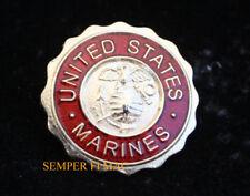 US MARINES LOGO SEAL HAT PIN LOGO FMF USS USMC VETERAN ENLISTED OFFICER GIFT WOW