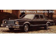 1975 Mercury Monarch Ghia 4-D Sedan   Auto  Magnet