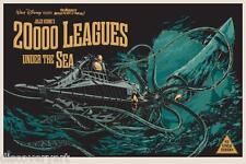 20000 LEGHE SOTTO I MARI Disney movie poster 1954 CANVAS Wall Art STAMPA PELLICOLA