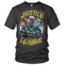 Justice league batman superman green lantern dc comics gris t-shirt homme