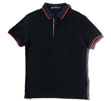 Chris Christy Mens Plain Polo Short Sleeve Shirt Black / Brown Size Medium Large