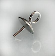 1 Pair Sterling 925 Silver Bead Cup Pegs Jewellery Findings Earring Fittings Cap